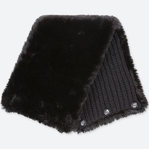 NWT Uniqlo Faux Shearling Reversible Two-Way Snood